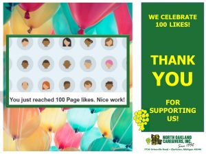 North Oakland Caregivers celebrate 100 Likes