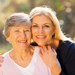 Senior Home Care with North Oakland Caregivers - smiling senior mother and daughter